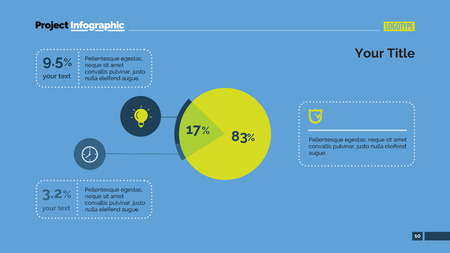 exploded: Exploded pie chart with percentage. Element of presentation, graph, chart, diagram. Concept for template, infographics, report. Can be used for topics like analysis, statistics, finance, investment Illustration