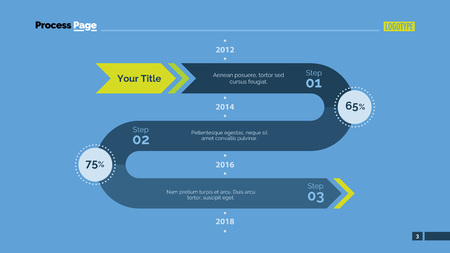 three phase: Three phases timeline chart. Element of presentation, chart, step diagram. Concept for business template, infographics, report. Can be used for topics like strategy, workflow, planning, analysis Illustration