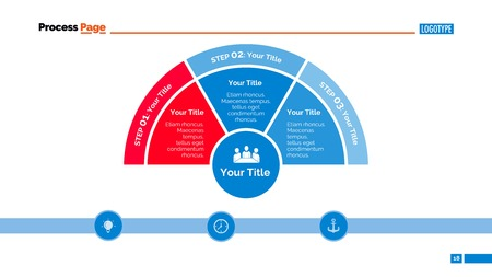 segmented: Three zones diagram. Element of presentation, segmented diagram, step chart. Concept for business infographics, templates, reports. Can be used for topics like strategy, analysis, planning Illustration