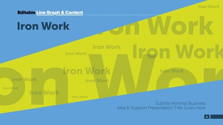 Iron work presentation name. Business data. Cover, diagram, design. Concept for infographic, templates, presentation, marketing. Can be used for topics like management, strategy, production. Illustration