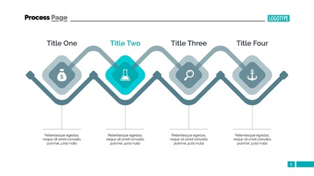 Diagrama del proceso de plantilla de diapositiva. datos de la empresa. Gráfico, diagrama, diseño. Concepto creativo de infografía, plantillas, presentación, la comercialización. Puede ser utilizado para temas como la gestión, estrategia, finanzas.