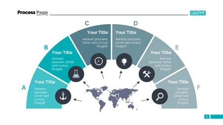 Modello di diapositiva del diagramma a semicerchio. Dati aziendali Grafico, diagramma di passo, diagramma di processo. Concetto per infografica, rapporti. Può essere utilizzato per argomenti come analisi, marketing, ricerca Vettoriali