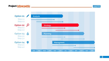 periods: Months Periods Diagram Slide Template