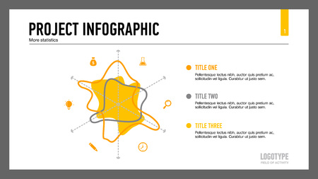 radar: Stylized Radar Chart Slide Template Illustration