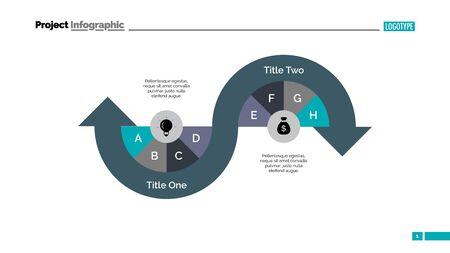 plantilla de diagrama de diapositivas proceso de flecha Foto de archivo