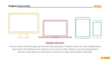 electronic devices: Electronic devices slide template