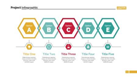 Five Hexagons Diagram Slide Template