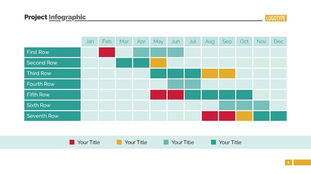 Gant Chart Infographic Template