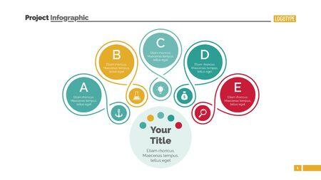 Outlined Circles Mind Map Slide Template Illustration