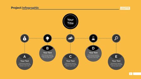 Simple Mind Map Diagram Slide Template Illustration