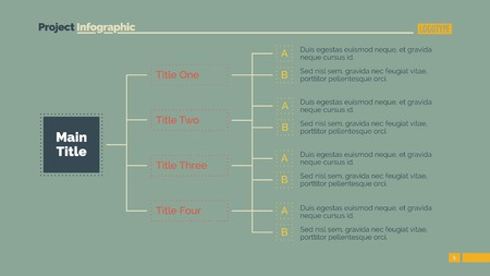 diagrama de arbol: Tree diagram slide template. Business data. Graph, diagram, algorithm. Creative concept for infographic, templates, presentation, marketing. Can be used for topics like planning, scheme, marketing Vectores