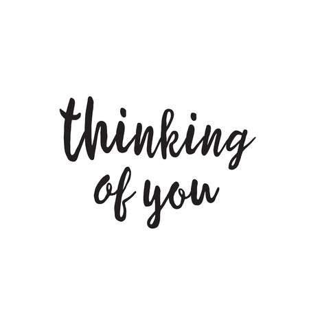 thinking of you: Thinking of You Lettering