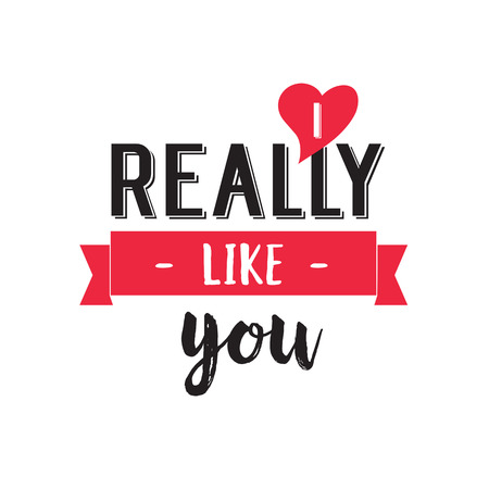 really: I Really Like You Lettering and Ribbon
