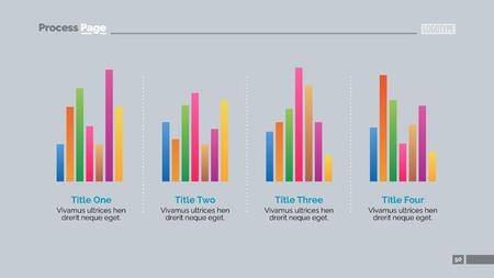 bar charts: Bar Charts Slide Vectores
