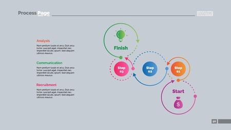 Three Steps Workflow Timeline Slide Template