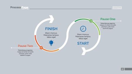 greeen: Timeline Arrow Diagram Slide Template