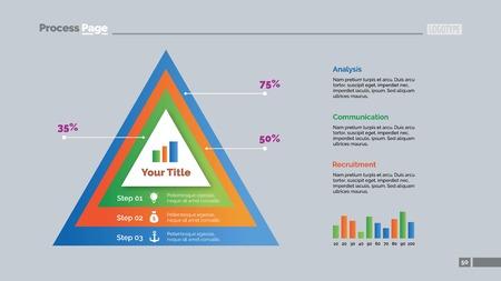 comparison: Three Comparison Triangles Slide Template Illustration