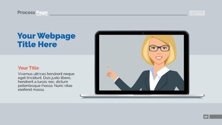 web template: Web presentation slide template