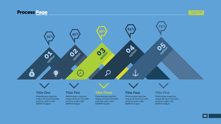 comparison: Five Options Comparison Slide Template Illustration