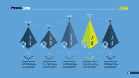 Five Pyramids Timeline Slide Template