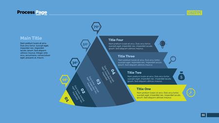 comparison: Four Points Comparison Slide Template. Illustration