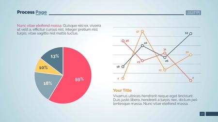 Data Chart Slide Template 2 矢量图像