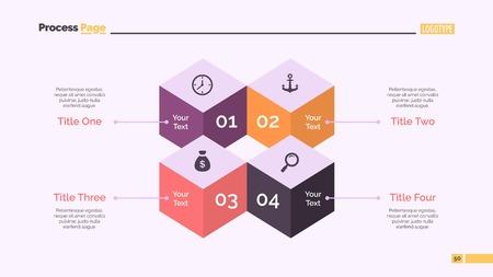 Four Cubes Diagram Slide Template