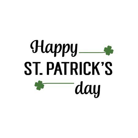 patrick: Happy Saint Patrick Day Lettering
