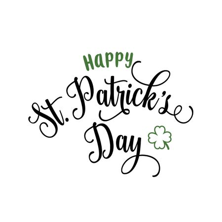 patrick: Happy St. Patrick Day Curly Lettering