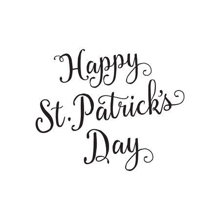 patrick: Happy St. Patrick Day Lettering