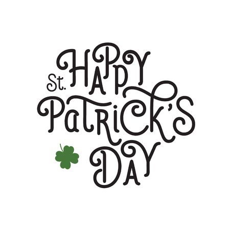Happy St. Patricks Day Black Lettering