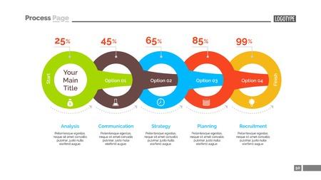 Circles Percentage Chart Slide Template
