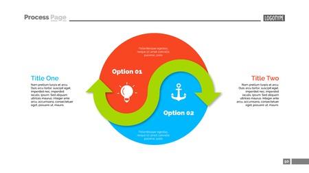 Yin Yang Sign Options Slide Template Stock Illustratie