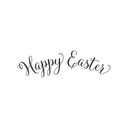 Caligrafía simple de Pascua feliz Ilustración de vector