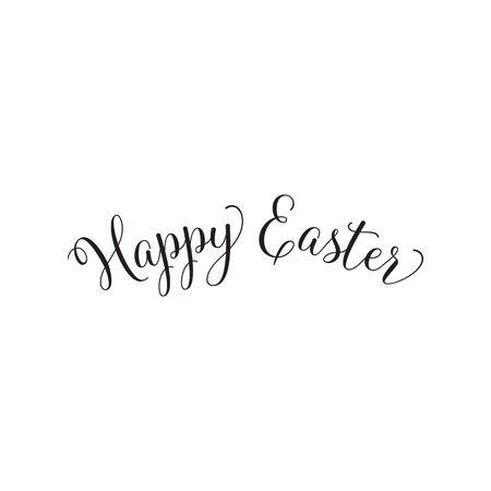 happy: Happy Easter simple calligraphy Illustration