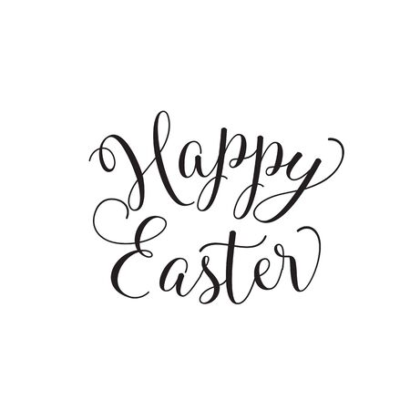 happy: Happy Easter simple lettering Illustration