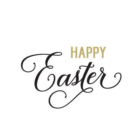 happy: Happy Easter calligraphic text Illustration