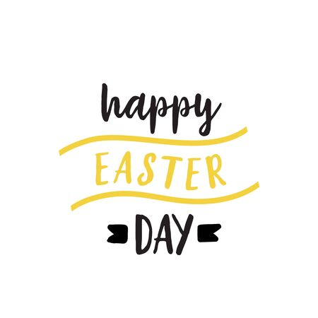 Happy Easter Day Lettering