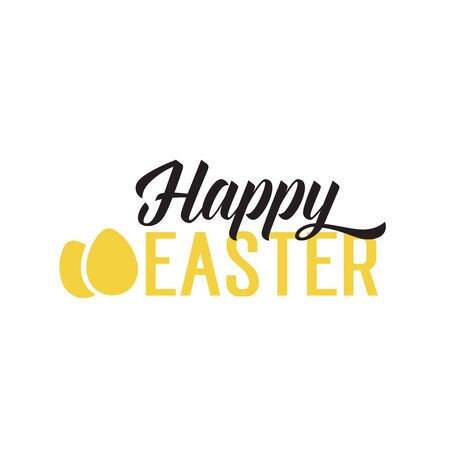 Happy Easter Lettering and Eggs