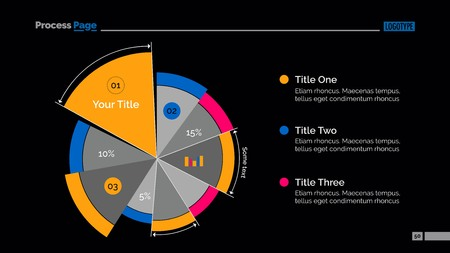Business Pie Chart Slide Template