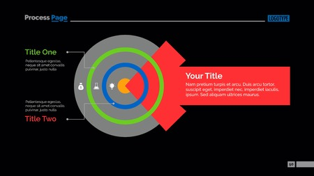 smart goals: Target and Arrow Diagram Slide Template