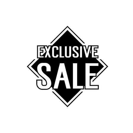 rhomb: Exclusive Sale Lettering on Rhomb Illustration