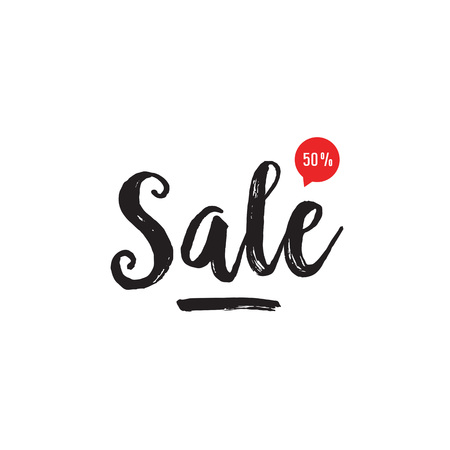 Fifty Percent Sale Lettering