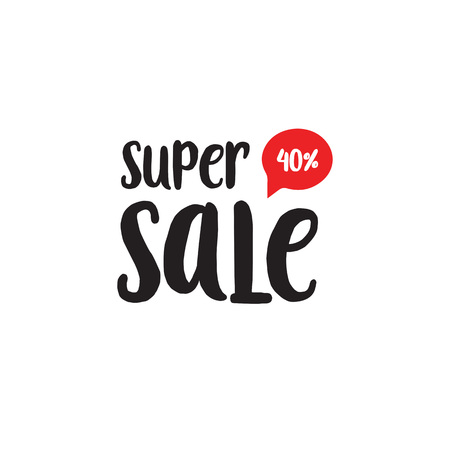 40: Super Sale black and red lettering
