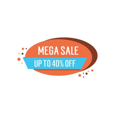 40: Mega Sale Lettering on Oval