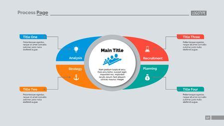 Four Points Strategy Slide Template Çizim