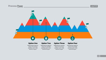 Mountain Peaks Slide Template