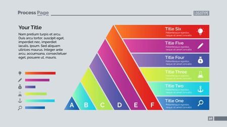 six point: Six Ribbon List Diagram Slide Template