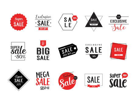 minimalistic: Sale minimalistic lettering set Illustration