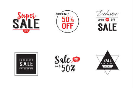 exclusive: Simple hand drawn sale lettering set